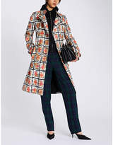 Burberry Scribble checked cotton-gabardine trench coat