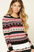 Forever 21 FOREVER 21+ Fair Isle Snow Sweater