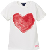 Toobydoo P.S. I Love You Heart Graphic Tee (Toddler, Little Girls, & Big Girls)