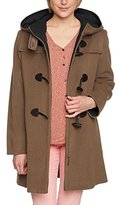 Gil Bret Women's Duffle Long Sleeve Jacket - Brown -