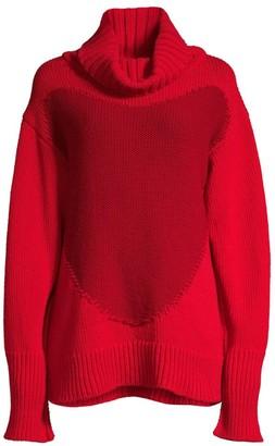 Escada Sport Rita Ora Capsule Spider Heart Oversized Wool Sweater