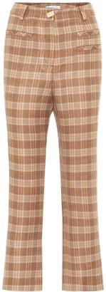 REJINA PYO Finley high-rise check pants