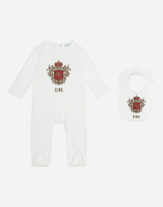 Dolce & Gabbana 2 Piece Gift Set In Jersey With King Print