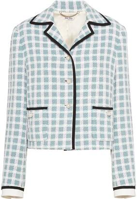 Miu Miu Checked Tweed Jacket
