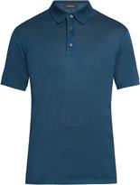 Ermenegildo Zegna Short-sleeved cotton-piqué polo shirt