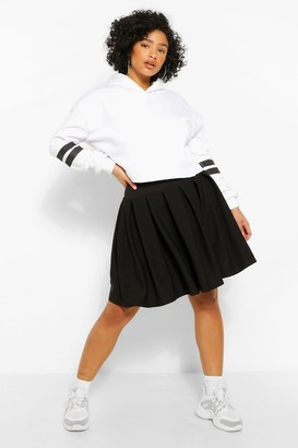boohoo Plus Pleated Tennis Skirt