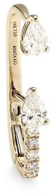 Anita Ko 18K Yellow Gold & Diamond Single Lobe Huggie Earring