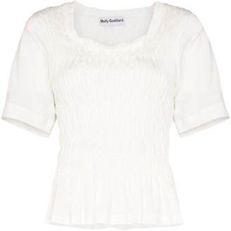 Molly Goddard Elba ruched top