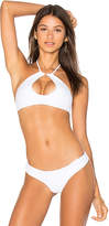 Bettinis Key Hole Halter Top in White. - size L (also in M,S,XS)