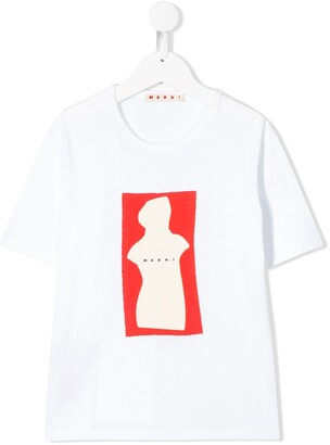 Marni short sleeve abstract sculpture T-shirt
