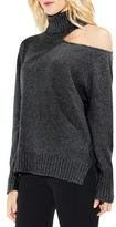 Vince Camuto Women's Asymmetrical Cold Shoulder Turtleneck Sweater