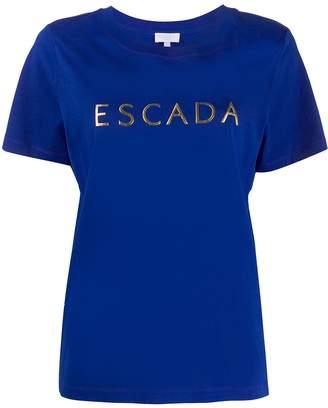 Escada Sport metallic logo print T-shirt