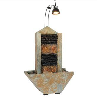 """Sunnydaze Decor 16""""H Towering Tabletop Indoor Water Fountain with Spotlight"""