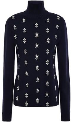 Paco Rabanne Crystal-embellished Merino Wool Turtleneck Sweater
