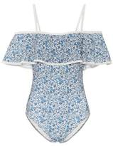 Karla Colletto Floral-printed one-piece swimsuit