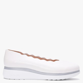 Wonders Ullswater White Leather Scalloped Loafers