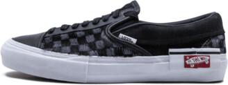 Vans Slip-On Cap LX 'Pony Hair Black Checkerboard' Shoes - Size 8