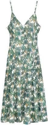 Petersyn Violet Linen-blend Midi Dress