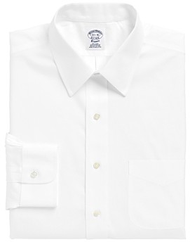 Brooks Brothers Solid Non-Iron Classic Fit Dress Shirt