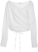 Adeam V-Neck Wrap Blouse