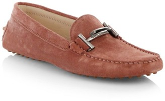 Tod's Gommino Double T Suede Driving Loafers