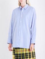 Junya Watanabe Oversized pinstriped cotton-poplin shirt