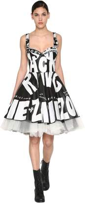 Jeremy Scott Printed Leather Dress