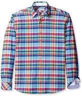 James Campbell Men's Corsan Plaid Long Sleeve Sportshirt