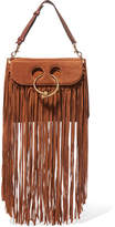 J.W.Anderson Pierce Medium Fringed Suede Shoulder Bag - Brown