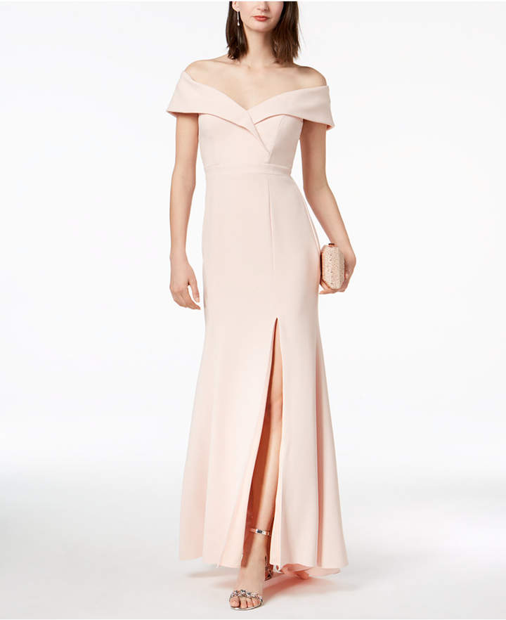 Xscape Evenings Off-The-Shoulder Gown