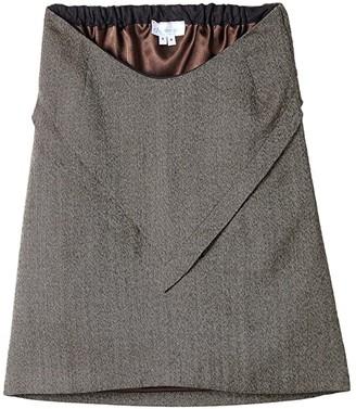 E Ispirante   Creative Adaptive Clothing e Ispirante - Creative Adaptive Clothing Julienne Lined Skirt (Brown/Black) Women's Skirt