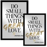 Oliver Gal Do Things with Love Framed Printed Wall Art in Black/Gold