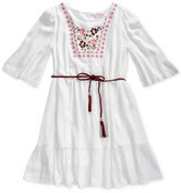 Sweet Heart Rose Embroidered Peasant Dress, Big Girls (7-16)