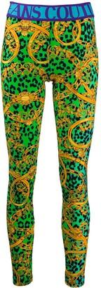 Versace Leo Chain Print leggings