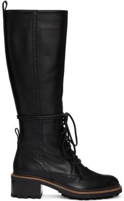 Chloé Black Tall Franne Boots