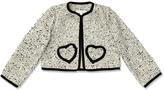 Marie Chantal Girls Monochrome Collarless Jacket