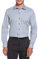David Donahue Men's Plaid Regular Fit Sport Shirt