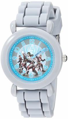 Marvel Boys Avengers Analog-Quartz Watch with Silicone Strap Grey 15.5 (Model: WMA000343)