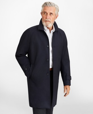 Brooks Brothers Water-Repellent Wool Raglan Trench Coat