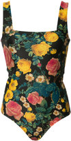 Fausto Puglisi floral print bodysuit - women - Polyamide/Spandex/Elastane - 42