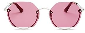 McQ Unisex Rimless Hexagon Sunglasses, 58mm