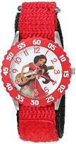 Disney Girl's 'Elena of Avalor' Quartz Stainless Steel and Nylon Automatic Watch, Color:Red (Model: W003039)