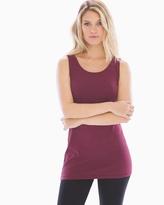 Soma Intimates Pima Cotton Tunic Layering Tank Marsala