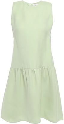 Valentino Tie-back Flared Silk-gazar Mini Dress
