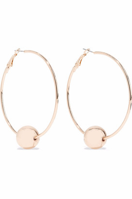 Kenneth Jay Lane Gold-tone Beaded Hoop Earrings