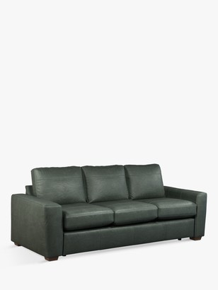 House by John Lewis Oliver Grand 4 Seater Leather Sofa, Dark Leg