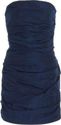 Georgia Alice Betty Draped Taffeta Mini Dress