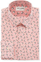 Saint Laurent Men's Star-Print Dress Shirt