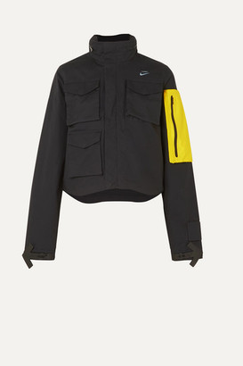 Nike Nrg + Off-white Shell-trimmed Cotton-ripstop Jacket - Black