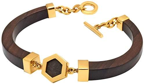 The Branch Hex Detail Gold Bracelet